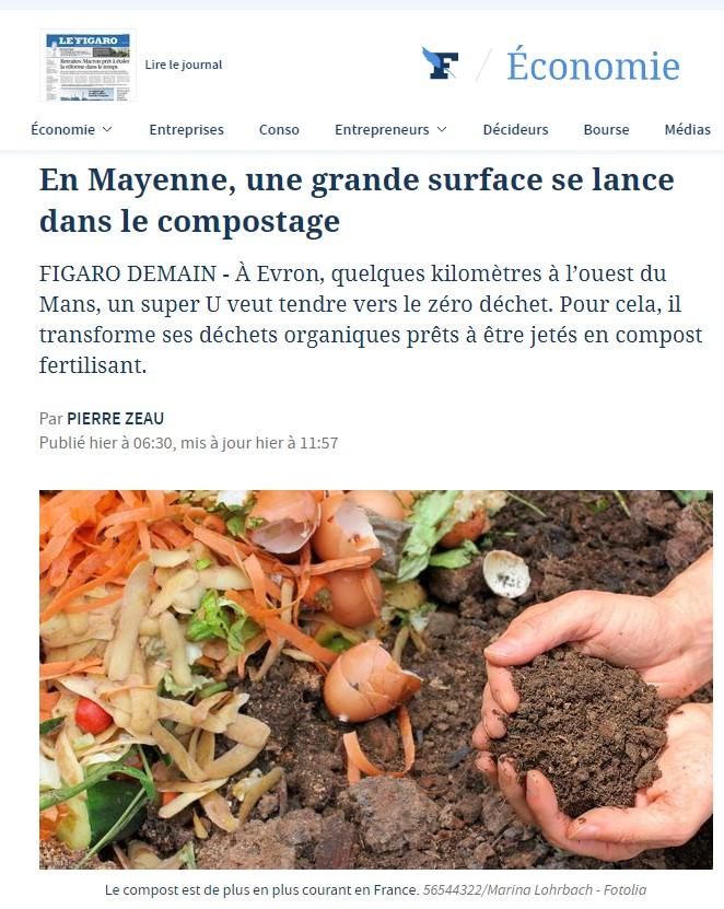 Grande surface - super U - compostage
