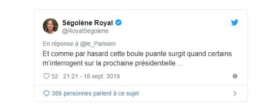 Ségolène Royal tweet défense enquête